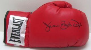 James Buster Douglas Signed Red Everlast Boxing Glove JSA