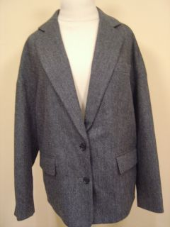 Marc Jacobs Gray Herringbone Jacket Sz s $428