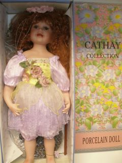 Cathay Collection Porcelein Doll 22 Tall Lavender Fairy Number 113 of