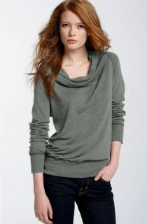 NWT James Perse Gray Funnel Neck Vintage Sweatshirt Size 2   Retail $