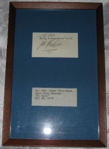 Lt General James Doolittle Autograph WWII