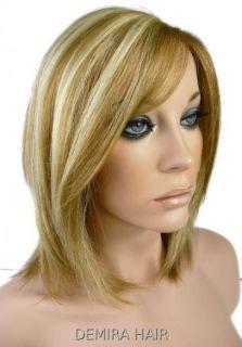 100 Remy Human Hair Mono Wig Ash Blonde DSM F18 613