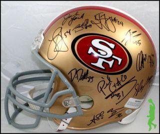 49ers Team Signed F s Football Helmet 28 Autos Gore Davis COA