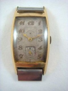 Vintage 14k Gold Filled Lord Elgin Mens Dress Watch Movement Deco