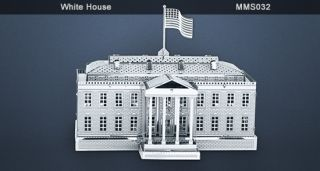 Metal Works White House 3D Laser Cut Model Fascinations 010329