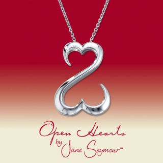 Jane Seymour Open Hearts Sterling Silver Necklace Pendant