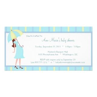 Green And Yellow Polka Dots Baby Shower Invitation Picture Card