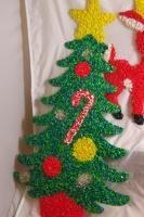 Plastic Popcorn Christmas Decorations Santa Rudolph Snowman
