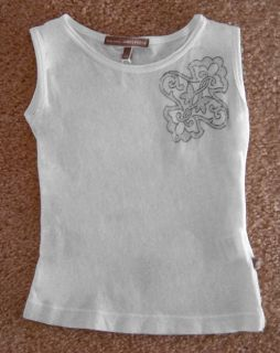 James Perse Toddler Baby Girls Logo Sleeveless Shirt 6M