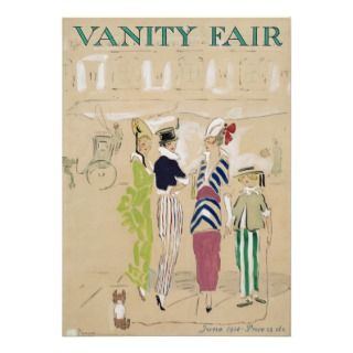 Vanity Fair Magazine Cover Art June 1914 Announcements