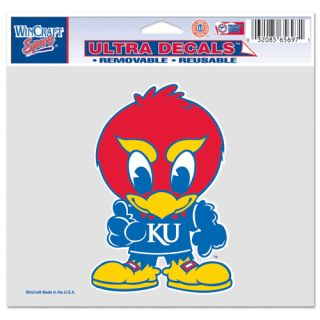 Kansas University KU Junior Jayhawk Removable Decal
