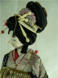 Exquisite Japanese Collectible Doll Geisha Highest Rank