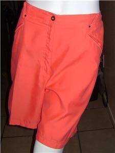 Jamie Sadock Bermuda Golf Walking Short Orange 100 Polyester Size 14