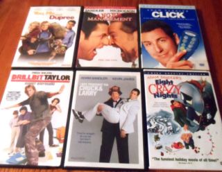 DVD Lot Comedies Adam Sandler Jack Nicholson Luke Wilson More