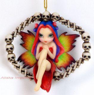 Jasmine Becket Rainbow of Bones Fairy Ornament Figurine