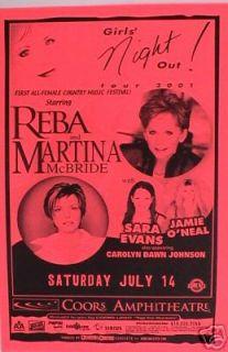 Reba McEntire Martina McBride 01 San Diego Tour Poster