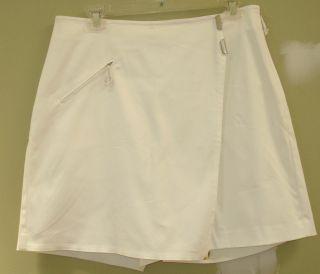 Jamie Sadock Golf Tennis White Skort Shorts Skirt 8