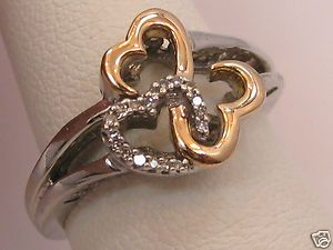 Jane Seymour Open Hearts Diamond 925 Rose Gold Ring Kay Jewelers