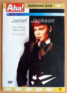 Janet Jackson Velvet Rope Tour Live RARE Czech cardsleeve DVD No Promo