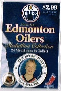 2003 04 NHL Edmonton Oilers Medallion Jani Rita