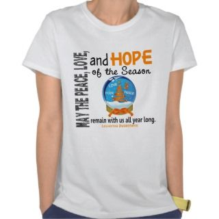 Christmas Holiday Snow Globe 1 Leukemia T shirt