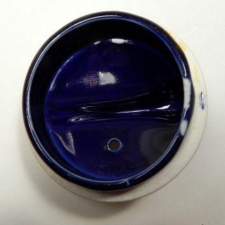Beautiful 1939 Art Deco Hall Airflow Teapot Cobalt Blue w Gold Trim