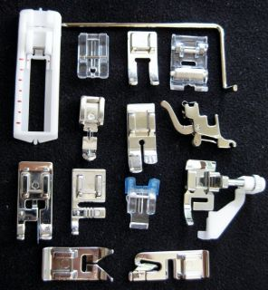 Set of 14 Janome Sewing Machine Snap on Presser Feet