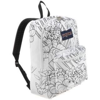 Jansport Superbreak Backpack Super G Jungle Girls New Black White