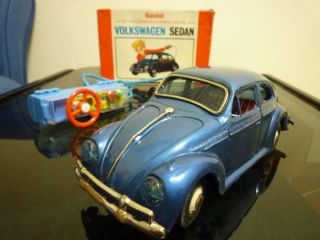 Japanese Bandai Sedan VW Volkswagen New Beetle Sports Car RC Tin Toy