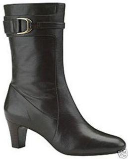 New $249 Cole Haan Air Janet Short Women Boot Size 8 Dark Chocolate