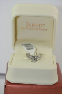 Jared Diamond Solitaire Ring 1 carat Princess cut 14K White Gold  New