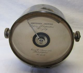 Early Queen Amp Meter Ammeter James w Queen Company s N 3472