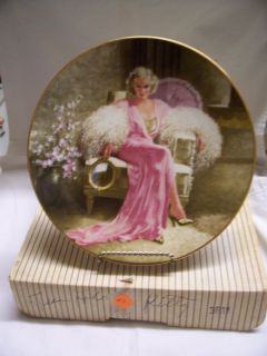 Jean Harlow Marilyn Monroe Collector Plate Hollywoods G G Collection