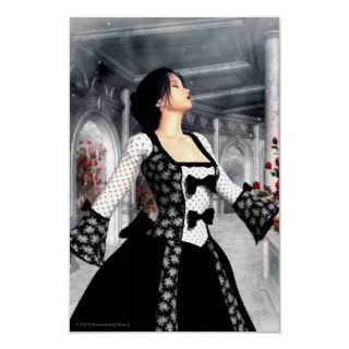 Dance Alone Gothic Romance Art Poster