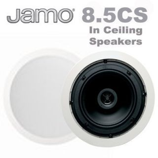 Jamo 8 5CS 8 5 Round in Ceiling Surround Sound Home Theater Speakers