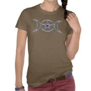 Triple Goddess Symbol T Shirts