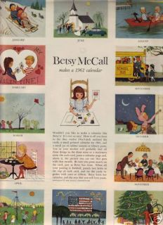 Betsy McCall Makes A 1961 Calendar January 1961