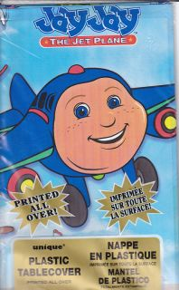 JAY JAY the JET PLANE Party Supplies ~ TABLECOVER ~ HTF