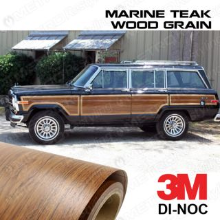 New 3M Jeep Grand Wagoneer Marine Teak Wood Grain Vinyl