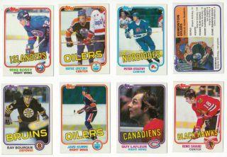 1981 82 Topps Hockey Set NM MT Wayne Gretzky Jari Kurri