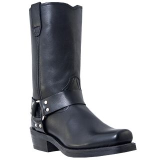 Mens Dingo Jay Motorcycle Boot Buckle Black Medium D M Snoot Toe