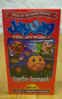 Jay Jay The Jet Plane Together Teamwork VHS Video New