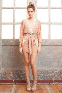 Winter Kate Jaya Faux Wrap Printed Silk Dress