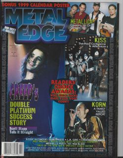 Edge 1999 Metallica Ozzy Korn Creed James Hetfield Jason Newsted KISS