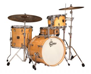 Gretsch Catalina Club Jazz Drum Set, Gloss Natural (CT J484 GN)   FREE