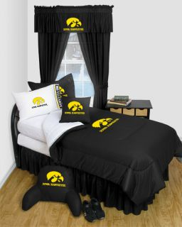 IOWA HAWKEYES TWIN *FULL *QUEEN *BEDROOM DECOR *BUY 3 ITEMS GET FREE