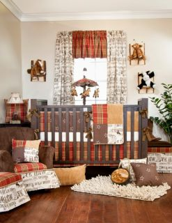 Glenna Jean Carson 8 PC Crib Baby Bedding Set New
