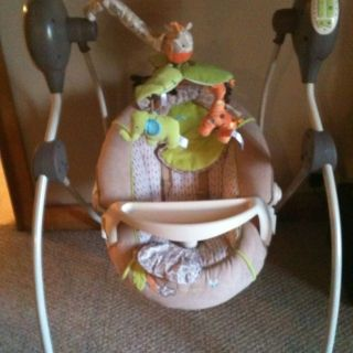 Carters Wild Life Cozy Musical Swing