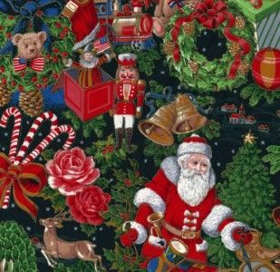 St Nicklaus Nicholas Christmas Holiday Fabric Yards BTY