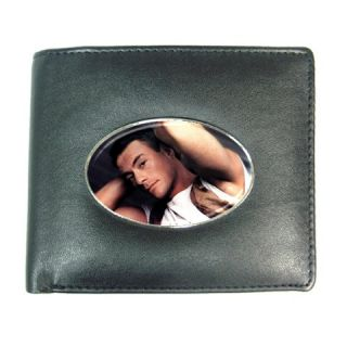 Jean Claude Van Damme Mens Leather Wallet Credit Card